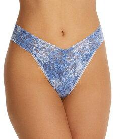 ハンキーパンキー レディース パンツ アンダーウェア Denim Splash Printed Original Rise Thong Blue/White