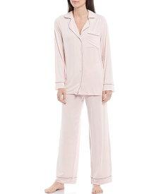 ベアフットドリームス レディース ナイトウェア アンダーウェア Luxe Milk Jersey Piped Pajama Set Pink
