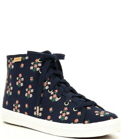 ケッズ レディース スニーカー シューズ Rifle Paper Co. Kickstart Hi Top Posy Embroidered Sneakers Navy Multi