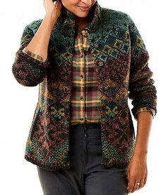 ロイヤルロビンズ レディース パーカー・スウェット アウター Mystic Canyon Printed Long Sleeve Wool Blend Sweater Cardigan II Marron