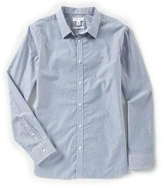 カルバンクライン メンズ シャツ トップス Slim-Fit Bengal Stripe Long-Sleeve Woven Shirt Marine