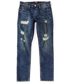 ゲス メンズ デニムパンツ ボトムス Slim Tapered Premium Destroyed Jeans Crescent Dark Wash/Destroy