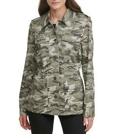 ダナ キャラン ニューヨーク レディース ジャケット・ブルゾン アウター Size Camo Print Button Front Cargo Cotton Jacket Rosemary/Ivory Camo