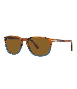 ペルソル メンズ サングラス・アイウェア アクセサリー Men's Po3019s Square 52mm Sunglasses Brown
