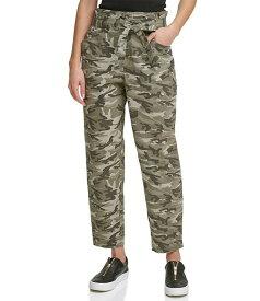 ダナ キャラン ニューヨーク レディース デニムパンツ ボトムス Jeans Camo Print Paperbag Waist Belted Straight Leg Ankle Pants Rosemary/Ivory Camo