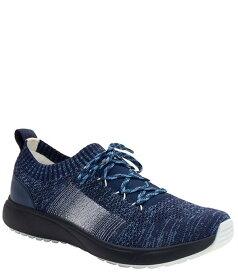 アレグリア レディース スニーカー シューズ Traq by Alegria Peaq Dream Fit Knit Lace-Up Pedometer Sneakers Navy