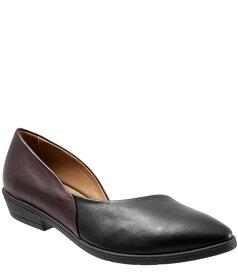 ブエノ レディース パンプス シューズ Opal Half d'Orsay Colorblock Leather Slip Ons Black/Merlot