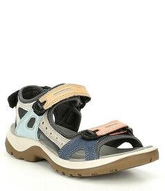 エコー レディース サンダル シューズ Women's Yucatan Offroad Multi Colored Banded Outdoor Sandals Multicolor