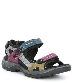 エコー レディース サンダル シューズ Women's Yucatan Offroad Multi Colored Banded Outdoor Sandals Petrol Multi
