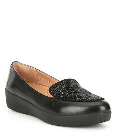 フィットフロップ レディース スリッポン・ローファー シューズ Q45 Leather Sneaker Loafers black