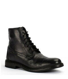 フライ メンズ ブーツ・レインブーツ シューズ Men's Murray Laser Perforated Leather Lace-Up Boot Black