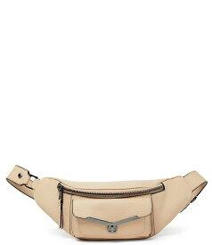 ボトキエ レディース ショルダーバッグ バッグ Valentina Zip Leather Belt Bag Fawn