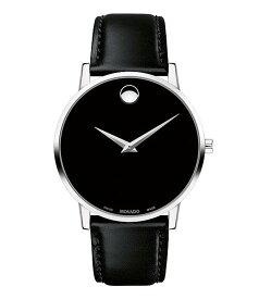 モバド メンズ 腕時計 アクセサリー Museum Classic Black Calfskin Strap Watch Black