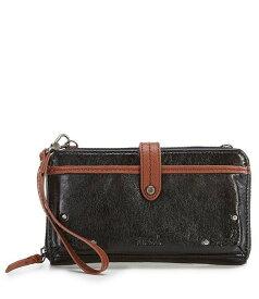 ザサック レディース ショルダーバッグ バッグ Iris Large Smartphone Convertible Mini Wallet Black Onyx