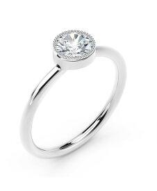 フォーエバーマーク レディース リング アクセサリー Tribute Collection Diamond (1/3 ct. t.w.) Ring with Mill-Grain in 18k Yellow White and Rose Gold White Gold