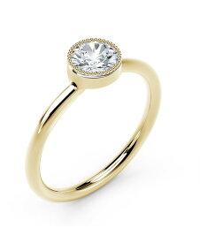 フォーエバーマーク レディース リング アクセサリー Tribute Collection Diamond (1/3 ct. t.w.) Ring with Mill-Grain in 18k Yellow White and Rose Gold Yellow Gold