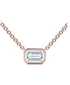 フォーエバーマーク レディース ネックレス・チョーカー・ペンダントトップ アクセサリー Tribute Collection Diamond (1/4 ct. t.w.) Necklace with Mill-Grain in 18k Yellow White and Rose Gold Rose Gold