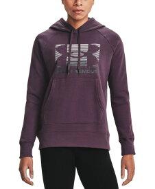 アンダーアーマー レディース パーカー・スウェット アウター Women's Lock Logo Hoodie Pixel Purple