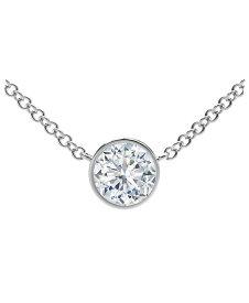 フォーエバーマーク レディース ネックレス・チョーカー・ペンダントトップ アクセサリー Tribute Collection Diamond (1/5 ct. t.w.) Necklace with Mill-Grain in 18k Yellow White and Rose Gold White Gold