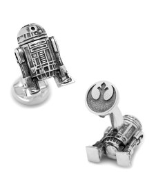 カフリンクス メンズ カフスボタン アクセサリー 3D R2D2 Cufflinks Silver