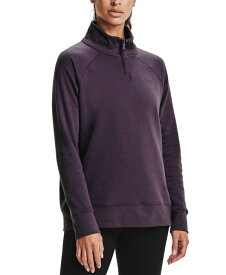 アンダーアーマー レディース シャツ トップス Women's Quarter-Zip Training Top Pixel Purple