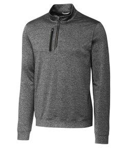カッターアンドバック メンズ Tシャツ トップス Men's Stealth Half Zip Elemental