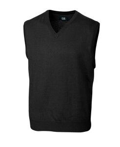 カッターアンドバック メンズ ニット・セーター アウター Douglas V-Neck Sweater Vest Black