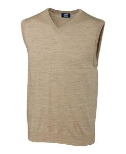 カッターアンドバック メンズ ニット・セーター アウター Douglas V-Neck Sweater Vest Sand