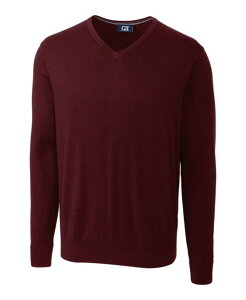 カッターアンドバック メンズ ニット・セーター アウター Lakemont V-Neck Burgundy