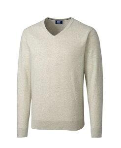 カッターアンドバック メンズ ニット・セーター アウター Lakemont V-Neck Cream