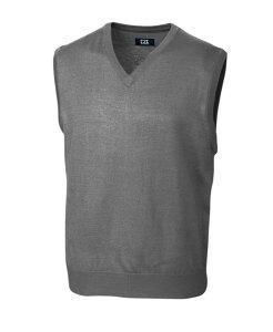 カッターアンドバック メンズ ニット・セーター アウター Cutter and Buck Men's Big and Tall Douglas V-Neck Sweater Vest Gray
