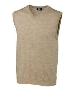 カッターアンドバック メンズ ニット・セーター アウター Cutter and Buck Men's Big and Tall Douglas V-Neck Sweater Vest Sand