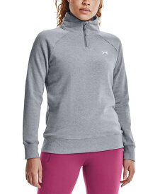 アンダーアーマー レディース シャツ トップス Women's Quarter-Zip Training Top Steel Grey
