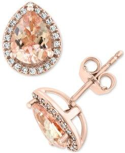 エフィー レディース ネックレス・チョーカー・ペンダントトップ アクセサリー EFFY Morganite (1-7/8 ct. t.w.) & Diamond (1/6 ct. t.w.) Stud Earrings in 14k Rose Gold Morganite