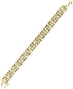 エフィー レディース ブレスレット・バングル・アンクレット アクセサリー EFFY Cultured Freshwater Pearl (3-1/2mm) Link Bracelet in 18k Gold-Plated Sterling Silver Gold Over Silver