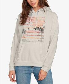 ボルコム レディース シャツ トップス Printed Truly Stoked Hooded Sweatshirt Moonbeam