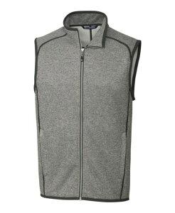 カッターアンドバック メンズ ニット・セーター アウター Mainsail Sweater Vest Heather Gr
