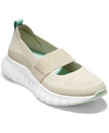 コールハーン レディース スニーカー シューズ Women's Zerogrand Flex Mary Jane Slip-On Sneakers Cement Stitchlite/ Capri Heel Loop/ White
