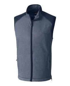 カッターアンドバック メンズ ニット・セーター アウター Cutter and Buck Men's Big and Tall Cedar Park Full Zip Sweater Vest Navy Blue