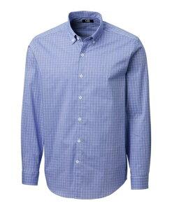カッターアンドバック メンズ シャツ トップス Men's Soar Windowpane Shirt Chelan