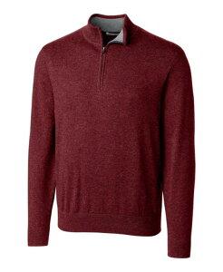 カッターアンドバック メンズ ニット・セーター アウター Cutter and Buck Men's Big and Tall Lakemont Half Zip Sweater Burgundy