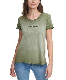 ダナキャランニューヨーク レディース シャツ トップス Garment Washed Logo T-Shirt Rosemary