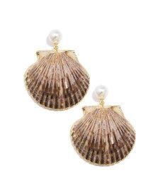ゼンジ レディース ピアス・イヤリング アクセサリー Gold-Tone Imitation Pearl & Shell Drop Earrings Off-white