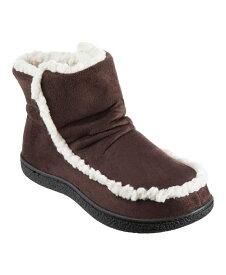 アイソトナー レディース サンダル シューズ Isotoner Microsuede Alex Boot with 360 Surround Memory Foam Slippers Online Only Dark Chocolate