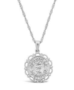 スターリングフォーエバー レディース ネックレス・チョーカー・ペンダントトップ アクセサリー Women's Veni Vidi Vici Silver Plated Pendant Necklace Silver-Tone