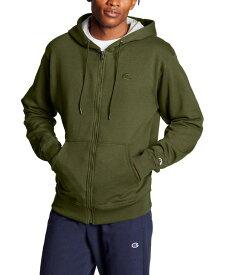 チャンピオン メンズ パーカー・スウェット アウター Men's Powerblend Fleece Zip Hoodie Cargo Olive