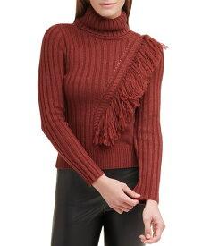 ダナ キャラン ニューヨーク レディース ニット・セーター アウター Fringed Turtleneck Sweater Whiskey Sour