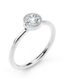 フォーエバーマーク レディース リング アクセサリー Tribute Collection Diamond (1/4 ct. t.w.) Ring with Mill-Grain in 18k Yellow White and Rose Gold White Gold