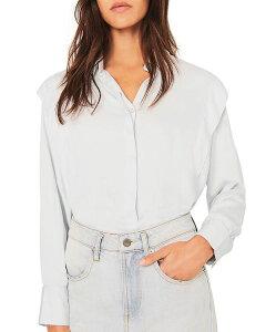 バッシュ レディース シャツ トップス Alia Ruffled Shirt Sky Blue