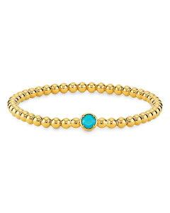 ナディール レディース ブレスレット・バングル・アンクレット アクセサリー Nano Gemstone Beaded Stretch Bracelet in 18K Gold-Plate Gold
